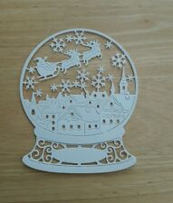 Die Cut Snowglobe Silhouette Tattered Lace   Card Toppers Card Making Crafts