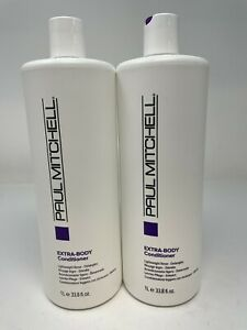 Lot of 2 Paul Mitchell Extra Body Conditioner 33.8 oz Fast Free Shipping!
