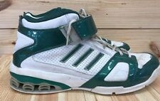 Adidas Men's Basketball Shoes High Top Green White Leather Art 667506 Size 14