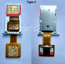 Hybrid Double Dual SIM Card Micro SD Adapter Extender( Nano SIM Adapter)