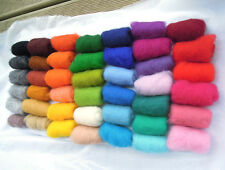 Sheep Wool Fiber for Needle Felting 43 colors set 130 gr / 4.55 oz