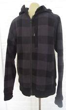 LULULEMON Gray/Black Checkered Plaid Zip Up Hoodie w/ thumbholes Small