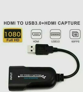 HDMI to USB 2.0 Port Video Capture Card HD 1080P 60fps Record For live Streaming