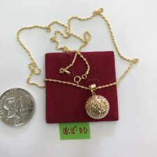 GoldNMore: 18K Gold Necklace With Pendant 18 Inches Chain TLZG