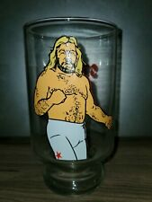 "1985 WWE Big John Studd Wrestling 7"" Drinking Glass Very Rare"