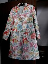 WILLI SMITH LADIES COTTON DRESS COAT SPRING FLOWERS SIZE SMALL LINED