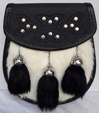 Sporran semi dress sporran with Rabbit Fur brand new (Free Belt Included)