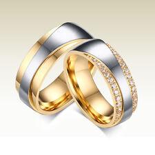 2 Partnerringe Trauringe Hochzeit Verlobung Ehe Ringe Edelstahl Gravur GPR028
