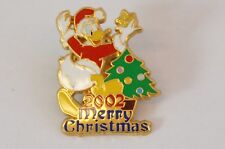 Disney Store Japan Pin Merry Christmas 2002 Donald Jds