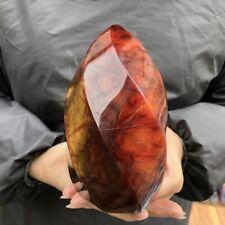 100-500g Natural Agate Carnelian Jasper Flame Quartz Crystal Healing Stone 1pcs