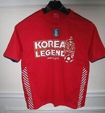 KFA SOUTH KOREA LEGEND 2010 MENS RED POLYESTER SOCCER SS SHIRT SIZE 100 [L] NEW