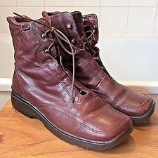 Marco Tozzi ~ reddish/brown leather fleece lined ankle boots ~ 40 - UK 7