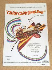 CHITTY CHITTY BANG BANG Film FLYING CAR Movie Poster DICK VAN DYKE IAN FLEMING