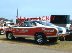 """""""Sox & Martin"""" Ronnie Sox 1970 Plymouth Duster Pro Stocker PHOTO! #(104)"""