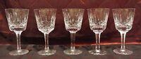 "Set of 5 Atlantis ""Fatima"" Crystal Clear Glass Wine Glasses, Bar, Set. Cut Glass"