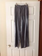 JESSICA MC CLINTOC Collections Grey/Silver Silky Satin Pants SzS-8 BNWOT!!!