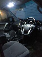 White Interior LED Light Upgrade Kit for Toyota  Landcruiser Prado 150 -10 Piece