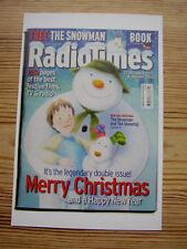 NEW Postcard Radio Times Cover 2012 Xmas Card The Snowman Snowdog Raymond Briggs