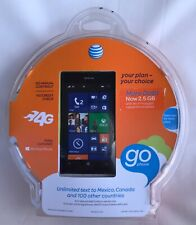 GO PHONE AT&T NOKIA LUMIA 520 8GB NEW SEALED 4G WINDOWS 8 64GB EXPANDABLE 5MP