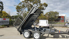 8x5 TANDEM TIPPER TRAILER WITH CAGE