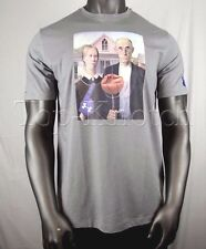 UNDER ARMOUR American Gothic Old Couple Basketball & Pitchfork T Shirt Mens XL