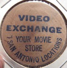 Vintage Video Exchange San Antonio, TX Wooden Nickel - Token Texas