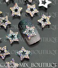 10pcs 3D Nail Art Deco (10 x 10)mm Star Alloy Jewelry AB Glitter Rhinestone#CA10