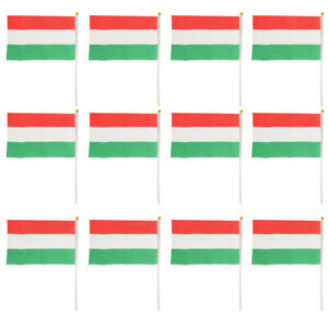 Lot 12 Hungary Hungarian Hand Waving Flags Country Flags Banner Fan Sopport