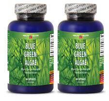 Blue Green Algae 500mg 120 Capsules From Klamath Lake (2 Bottles)