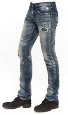 NWT PRPS BARRACUDA Ripped Repaired Straight Jeans Indigo Sz 34 $395