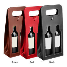 Wine Bottle Bag Faux Leather Luxury Bag Double Champagne Tote Carrier Cover Gift