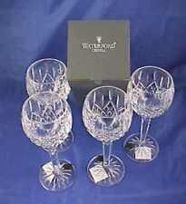 4 Waterford Lismore Crystal  Balloon Wine Hock Glasses NIB 6oz.  No.6003180800