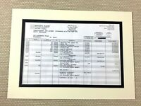 Bernie Madoff Original Financial Statement Report Fraud Ponzi Scheme Memorabilia