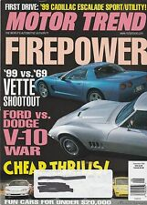 Motor Trend Sept 1998 - Cadillac Escalade - Hyundai Tiburon FX - Mercury Cougar