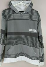 Billabong Mens Gray Striped Pullover Hoodie size M
