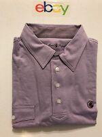 NWT Southern Proper Men's Polo Golf Shirt Lavender Pocket Size Medium See Photos