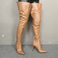 Women Over Knee Thigh High Boots Pointed Toe High Heel Boots Sexy Nightclub Shoe