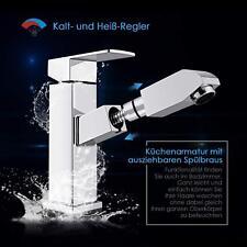 Waschtischarmatur Wasserhahn Ausziehbare Bad Waschbeckenarmatur Küchenarmatur