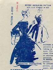 1950's VTG Spadea Misses's Dress by Martini Diminuitive Pattern A-2022  16 UNCUT
