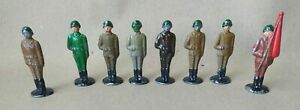 Vintage Lot of 8 Cast Iron Infantry Toy Soldiers  Made In Russia