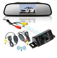 """4.3 """"LCD Auto KFZ Spiegel Monitor B4 +FUNK Kamera Rückfahrkamera 7 IR LED 350"""