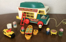 Vintage 1972 Fisher Price Little People Play Family Camper #994 Almost Complete