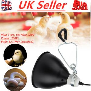 UK Plug 220V 300W Light Dome Reflector Reptile Bulb Holder Tortoise Lamp Holder