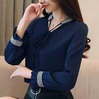 Blusas Y Camisas de Moda manga larga para mujer Elegante Camisa Blusa Ropa Tops