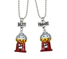 BEST FRIENDS BFF RED CANDY MACHINE NECKLACE FOR 2 SET GIRLS GIFT BIRTHDAY