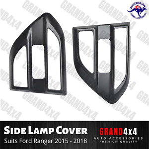 Matte Black Side Lamp Vent Cover Suits Ford Ranger PX MKII 2015 2016 2017 2018