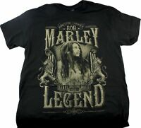 Bob Marley Rebel Legend Kingston Jamaica Mens T-Shirt Size M L XL 2XL Black