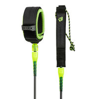 Reliance 6'0 Pro Surfboard Leash - Leg Rope Black/Lime  - Creatures Of Leisure