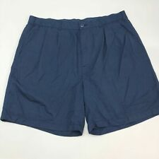 Reebok Golf Shorts Mens 46 Blue Elastic Waist Pleated Front Slash Pockets Sports