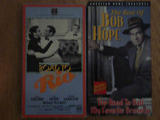 The Best of Bob Hope + Road to Rio VHS Video Movie Film Bing Crosby